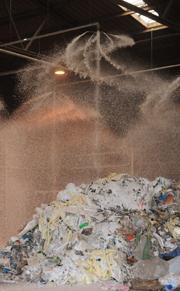 Installation einer automatischen One Seven® Löschanlage in einem Recyclingbetrieb